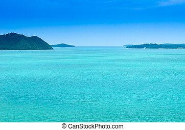 青い空, 緑, 海