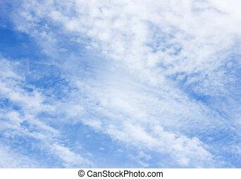 青い空, 雲, 背景
