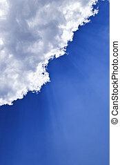 青い空, sunrays