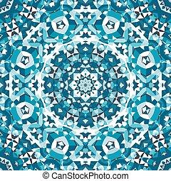 青い結晶, 万華鏡, パターン