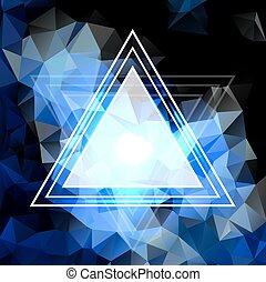 青い結晶, 抽象的, pattern., ビジネス, デザイン