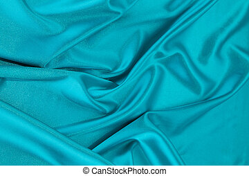 青い絹, ひだのある布
