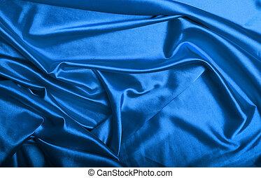 青い絹, 背景, 手ざわり