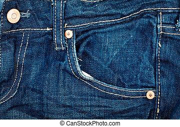 青い羽布, ジーンズ, ポケット