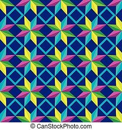 青い背景, パターン, 抽象的, seamless, 星