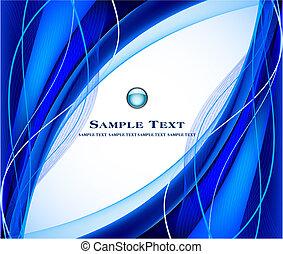 青い背景, ベクトル, 抽象的