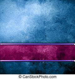 青い背景, 型, グランジ, 手ざわり, そして, ブランク, コピースペース
