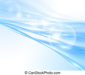 青い背景, 抽象的