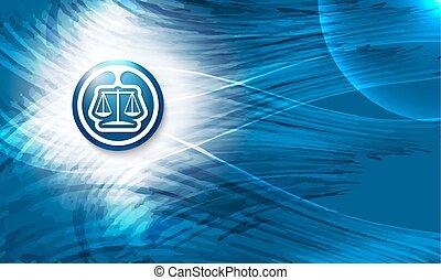 青い背景, 抽象的, ベクトル, 弁護士, シンボル