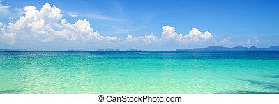 青い背景, 空, 海洋, 冷静, 海
