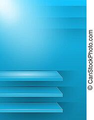青い背景, 3d