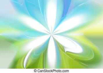 青い花, 自然, eco, 空, 色, 緑の背景, 草