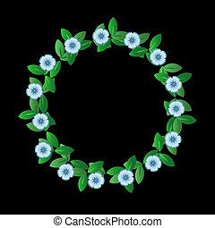 青い花, 花輪