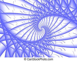 青い螺線形