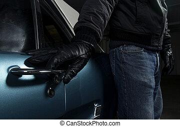 青い車, つらい, 盗みをはたらきなさい, 人
