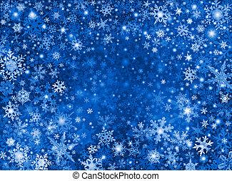青い雪, 嵐, 背景