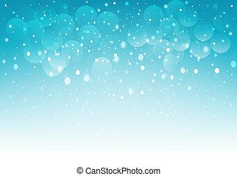 青い雪, bokeh, バックグラウンド。, ベクトル, eps10.