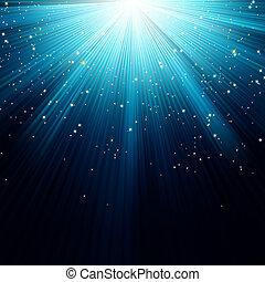 青い雪, eps, 星, 8, 落ちる, rays.