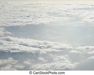 青い飛行機, 空, 窓