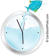 青い魚, 跳躍, 時計