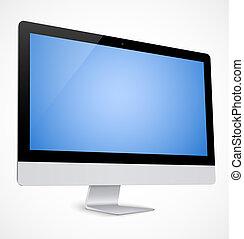 青スクリーン, コンピュータ, ディスプレイ