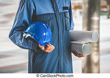 青写真, 堅い 帽子, 保有物, エンジニア