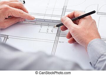 青写真, 建築家, 図画