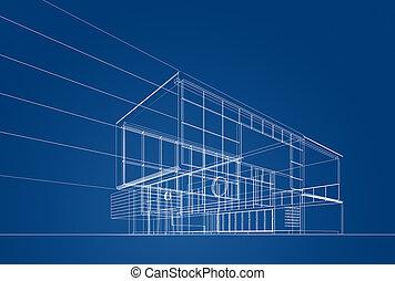 青写真, 建築