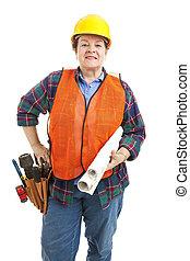 青写真, 建設, 女性, 建築業者