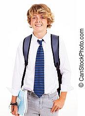 青少年男孩子, 工作室, 肖像