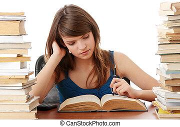 青少年的 女孩, 學習