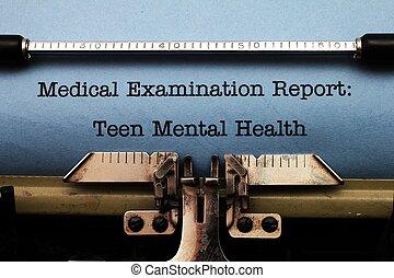 青少年, 健康, 精神