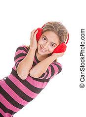 青少年, 听, 音樂