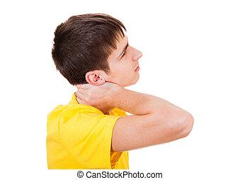 青少年, 感受, neckache