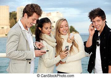 青少年, 流動, 或者, 移動電話