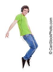 青少年, 跳舞, 到, 音樂