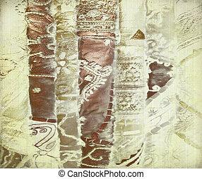青銅, 絲綢衣服, 金, 背景