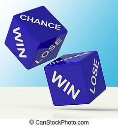 青, さいころ, 勝利, 提示, チャンス, 失いなさい, 運