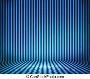 青, しまのある, 部屋, 背景, ショー