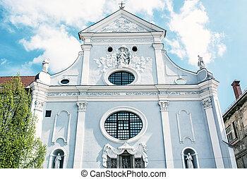 青, アンソニー, 写真, st. 。, フィルター, スロバキア, padua, kosice, 教会