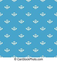 青, オイル, パターン, 貯蔵, seamless, ベクトル
