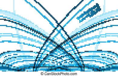 青, カラフルである, 抽象的, 波, ベクトル, 流行, 線, 技術
