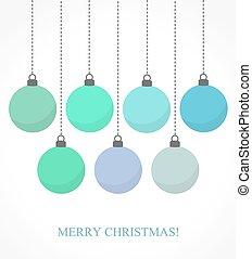青, クリスマス安っぽい飾り