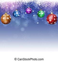 青, クリスマス, 休日, 背景