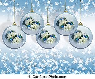 青, クリスマス, 背景