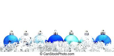 青, クリスマス, 花輪, 安っぽい飾り