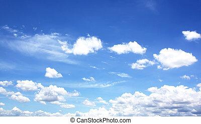 青, クローズアップ, 空の雲