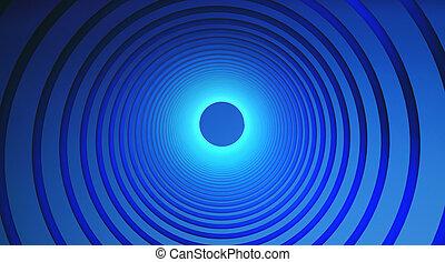 青, グラフィック, 抽象的, イラスト, 背景, デザイン, circles., 技術, 3d