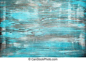 青, グランジ, ペイントされた, 手ざわり, バックグラウンド。, 木