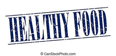青, グランジ, 健康, 型, 隔離された, 食物背景, 白, 切手